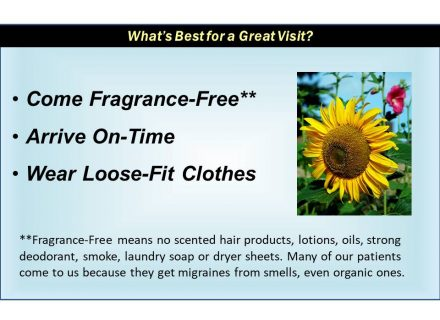 Come Fragrance Free, On Time, and with Loose-fitting Clothes